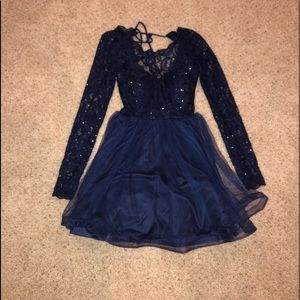Juniors Homecoming Long Sleeve Dress